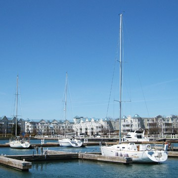 The Cobourg Marina and Beach Areas