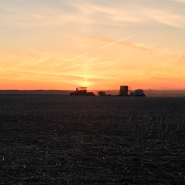 Manitoba Seeding at Sunset