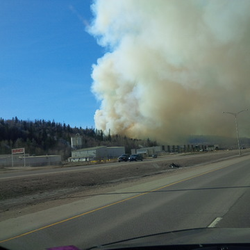 Fort Mcmurray Fire near highway 63