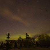 Aurora borealis and falling stars around Regina on May 1, 2016