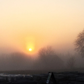This mornings foggy sunrise