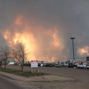 BIG TROUBLE... Flare up today in Fort McMurray