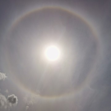 Halo around sun