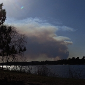 Forest Fire Smoke seen West of Kenora