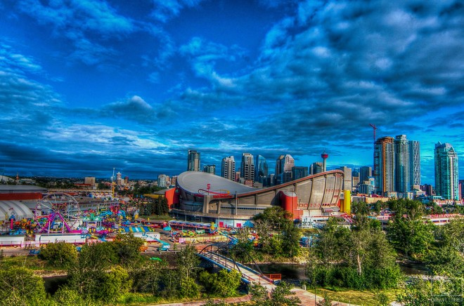 The Mighty City of Calgary during Stampede 2015 Calgary, AB