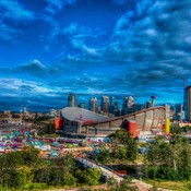 The Mighty City of Calgary during Stampede 2015