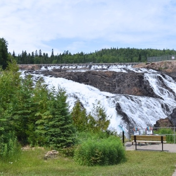 HIGH FALLS, MAGPIE RIVER near WAWA ONTARIO