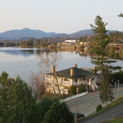 Lake Placid New York on beautiful day