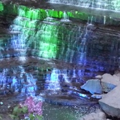 Albion falls lit up