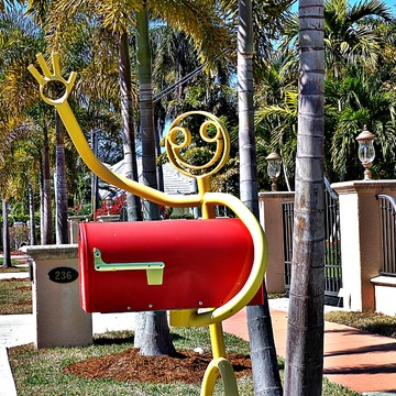 Happily Waving Mailbox