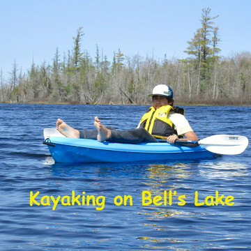 Kayaking on Bell's Lake near Markdale, ON