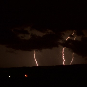 Lightning over Dalhousie, NB
