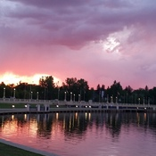 Sunset in wascana lake