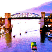 The Burrard Bridge in beautiful Vancouver