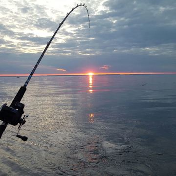 Fishing Lake Ontario - sunset