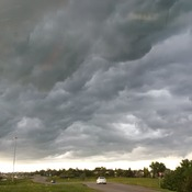 Clouds over East Regina Thursday night.