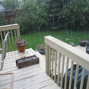 Thunder and hailstorm Calgary