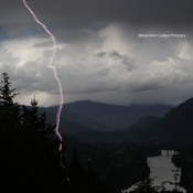 An Intimate Relationship with One Hundred Million Volts over City of Castlegar
