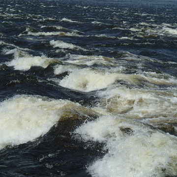 Looking at the Rapids from Bate Island