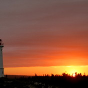 Beautiful sunset at Louisbourg Lighthouse in Cape Breton!!