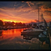 Port Dover Harbor Marina Sunrise