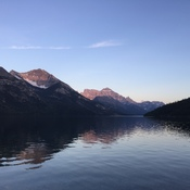 Calm waters at Waterton NP
