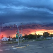 Bonnyville storm clouds