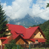 Driving through the Carpathian Mountains