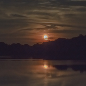 Wildwood lake moon rise
