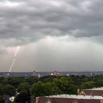 Lightning over Hamilton, Ontario