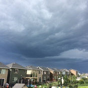 Threatening Weather Rolling Through Cochrane Alberta