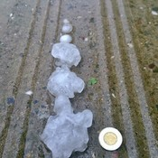 Hail Storm In Saguenay, Quebec