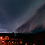 Shelf Cloud looming over Dalhousie, NB
