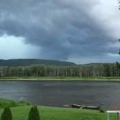 Active weather over the Restigouche River NB