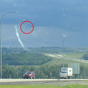 Funnel Cloud near Okotoks