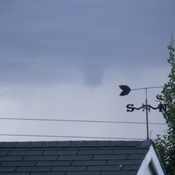 funnel over west Lethbridge