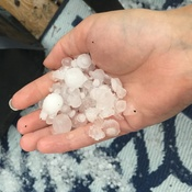 Hail storm in Fort Saskatchewan