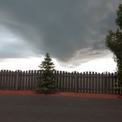 Weather storm in Calgary