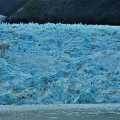 Honeycombed Terminus of Chilean Glacier