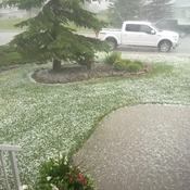 Hail in Cochrane AB 4:45 today