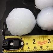 Golf ball size hail