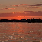 Sunset coming into Sambro Harbour, NS