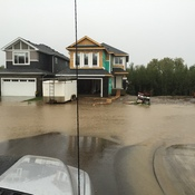 Street flooding in Northwest Edmonton
