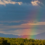 Early Morning Rainbow over the Rockies