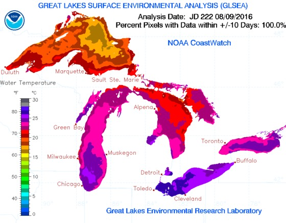 News - Soaring Great Lakes temperatures could impact your