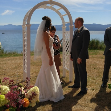 Wonderful day, beautiful backdrop. Congrats Jessica & Mike