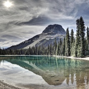 Yoho Lake near Yoho Pass in Yoho National Park