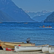 A stunning view of Alouette Lake