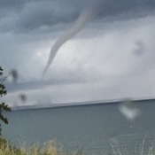 Funnel cloud over Cold Lake