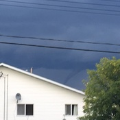 Funnel cloud in cold lake